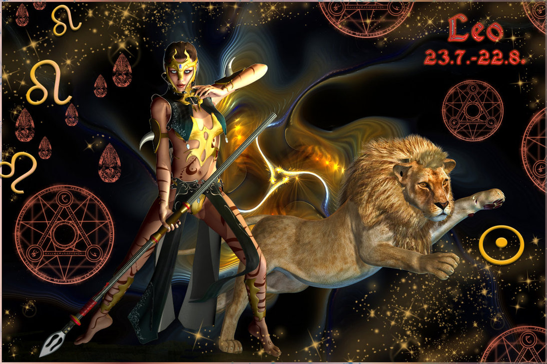 зодиака лев--женщина картинки со знаком