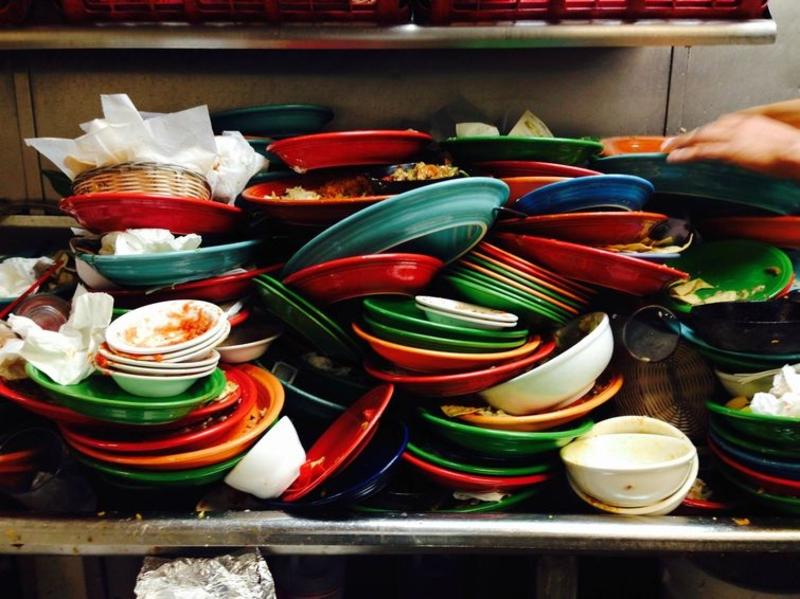 картинка гора посуды того