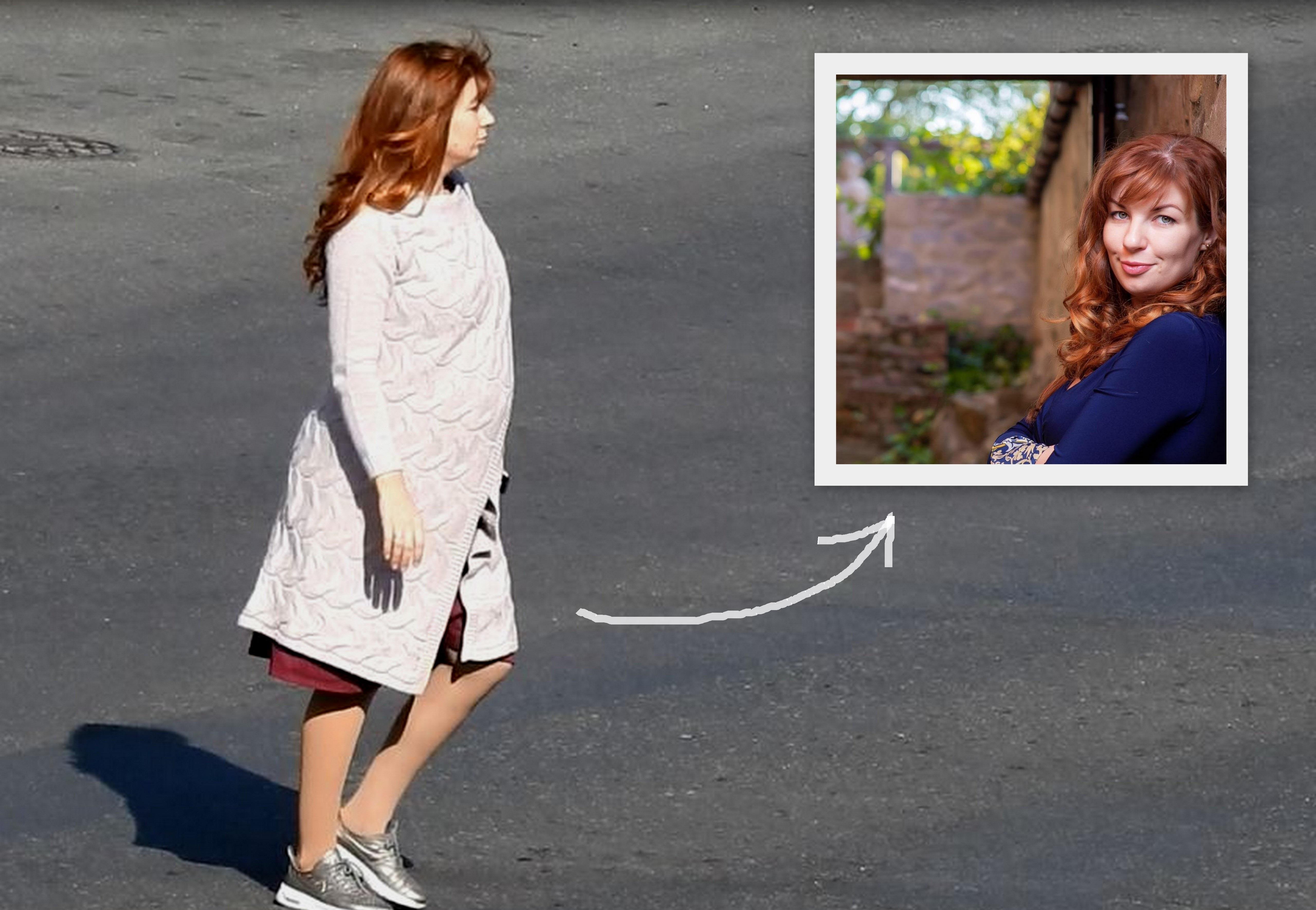 Фото девушки в куртке сзади