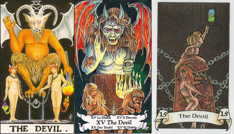 Значение аркана Дьявол в прямом и перевернутом положении сочетания с другими картами