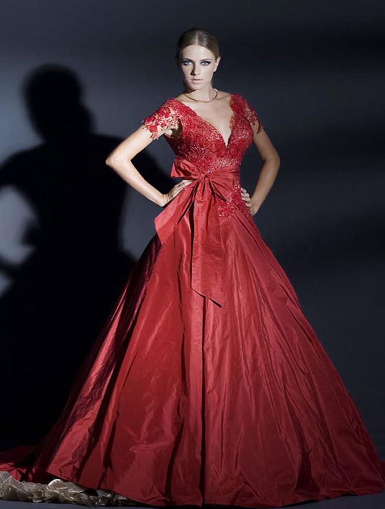 Фото красных свадеб платьев